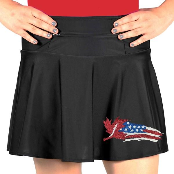 If you call Canada home, this running skirt featuring red maple leaves and Canadian phrases is a must-have! It has anti-ride shorts and three huge pockets!