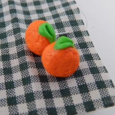 Boucle d'oreille fimo orange