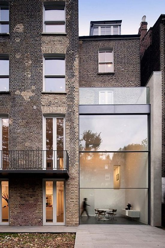 love the contrast of materials and transparency