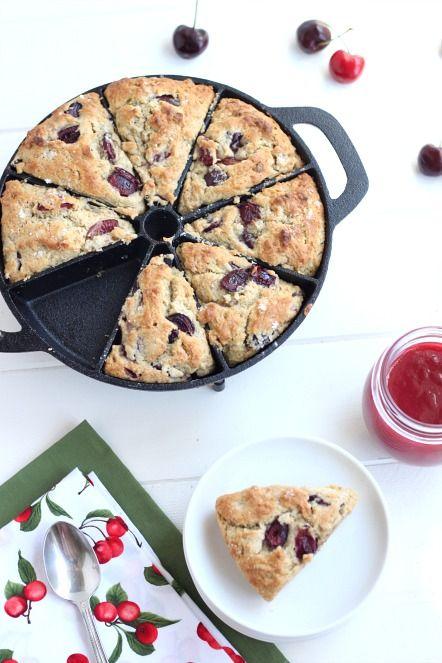 Old Mountain Cast Iron Scone Pan @createdbydiane Cherry Scone Recipe