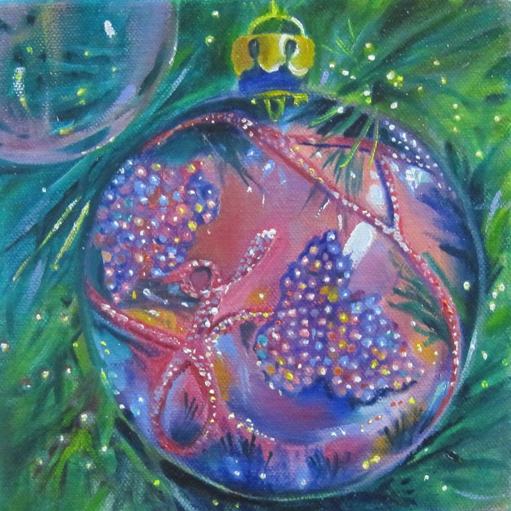 Glass Painting Linda Mccoy Beaded Glass Ornament Oil