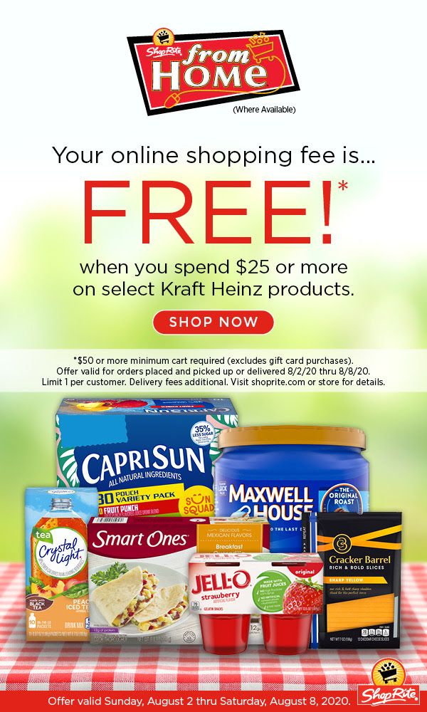 Shoprite From Home Online Shopping Fee Is Free August 2 2020 Thru August 8 2020 Home Online Shopping Shoprite Online
