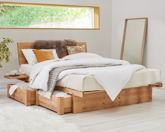 Japanese Wooden Bed Frame By Get Laid Beds Wooden Bed With