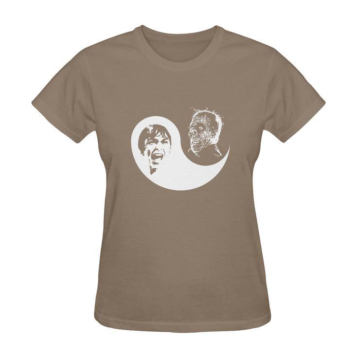 Yin Yang Horror Sunny Womens Tee @artsadd - Save 20% Off Discount Coupon Code: ARTSADD  & Free Worldwide Shipping. #tshirts #horror #halloween #yinyang #psycho #popart #scream #cooltees #women #womensfashion #streetwear #hitchcock