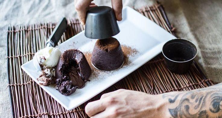 Σουφλέ (ή moelleux) σοκολάτας