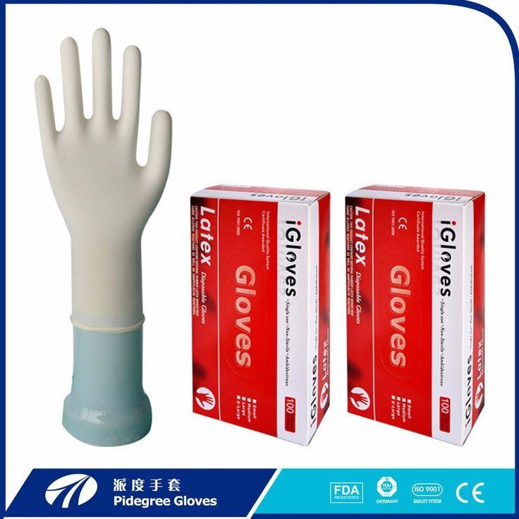 Disposable examination guantes de latex gloves