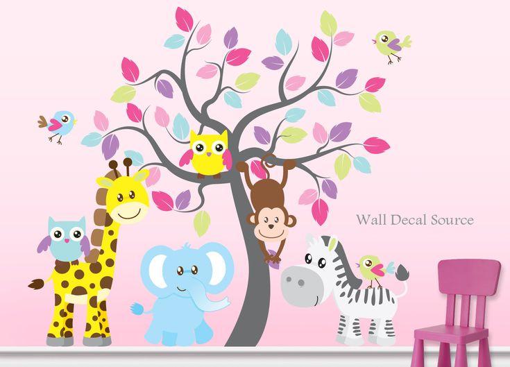 Best Jungle Wall Stickers Ideas On Pinterest Nursery Wall - Nursery wall decals jungle
