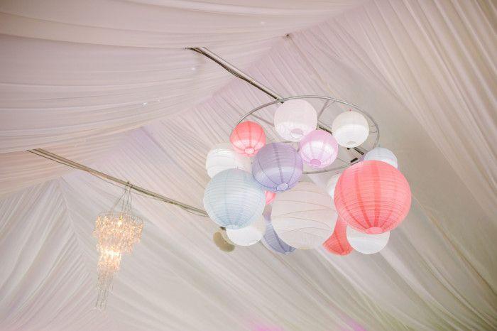 DIY Paper Lantern Chandelier