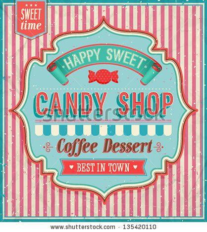 Candy shop. Vector illustration. - stock vector