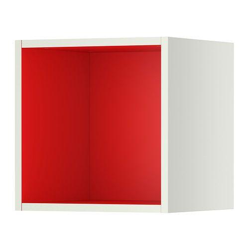 TUTEMO Open cabinet - white/red, 40x37x40 cm  - IKEA EGP 355