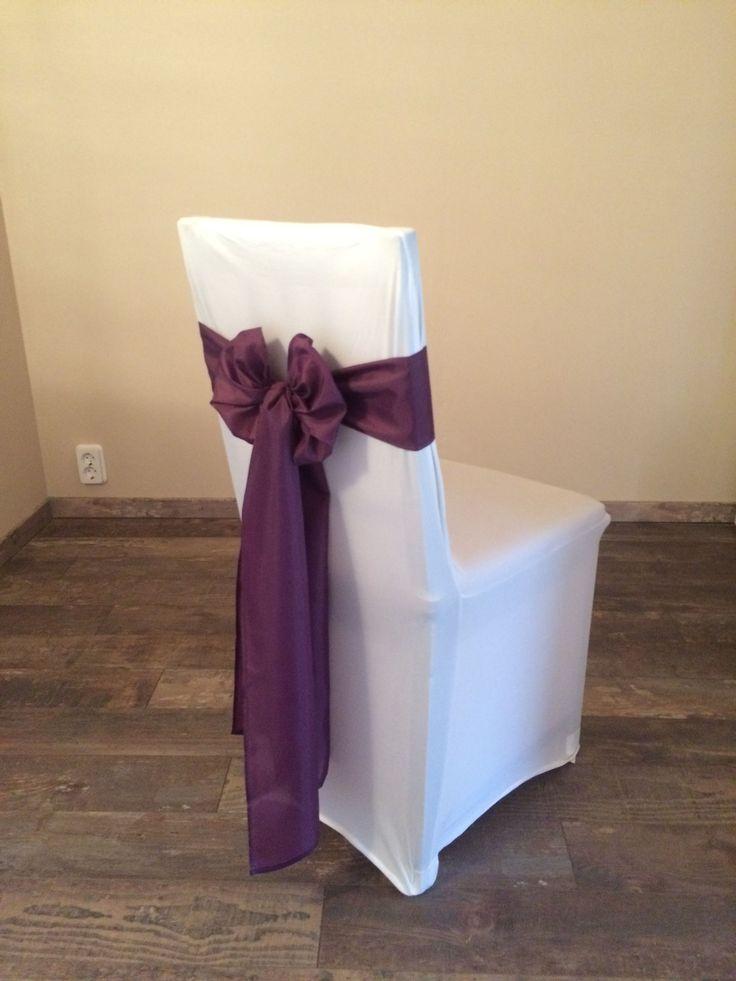 Bérelhető spandex székszoknya padlizsán lila színű selyem masnival Érd