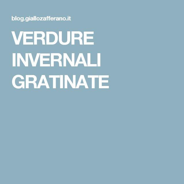 VERDURE INVERNALI GRATINATE