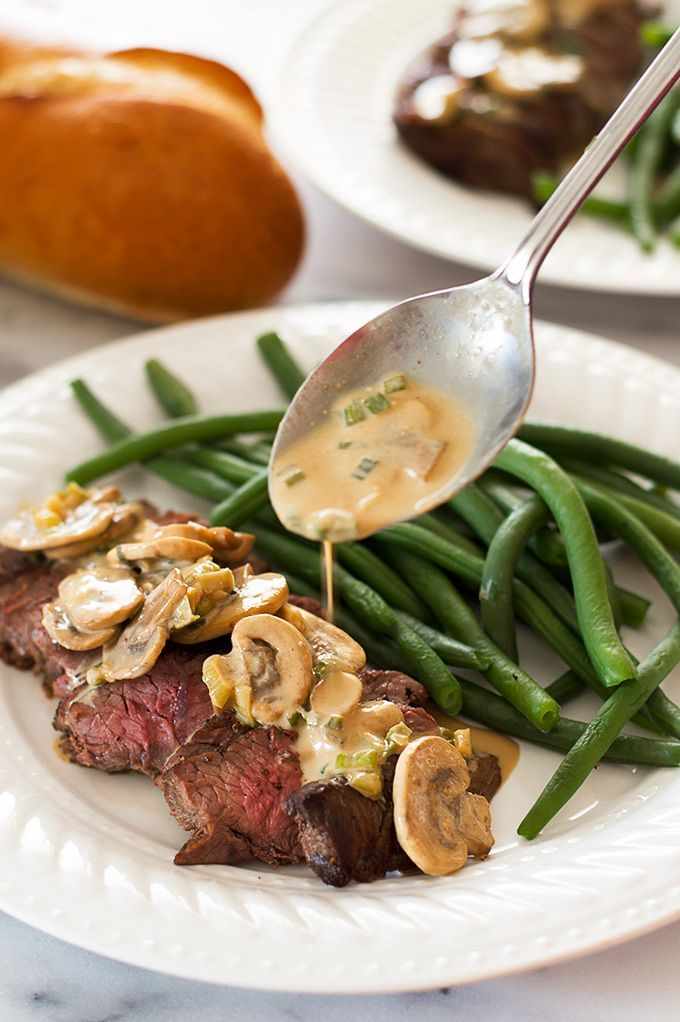 This Top Sirloin Steak With Mustard Sauce Recipe Is My Go To Dinner For Busy Weeknights When I M Cravi Healthy Steak Steak Dinner Recipes Healthy Meals For Two