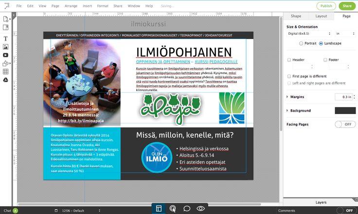 Opeblogi: Pitäisikö saada aikaan esite, juliste tai posteri?  #avohanke #toimikas #lucidpress
