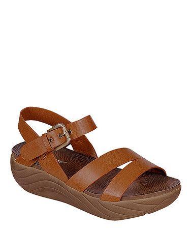 Look at this #zulilyfind! Camel Enjoy Platform Sandal #zulilyfinds