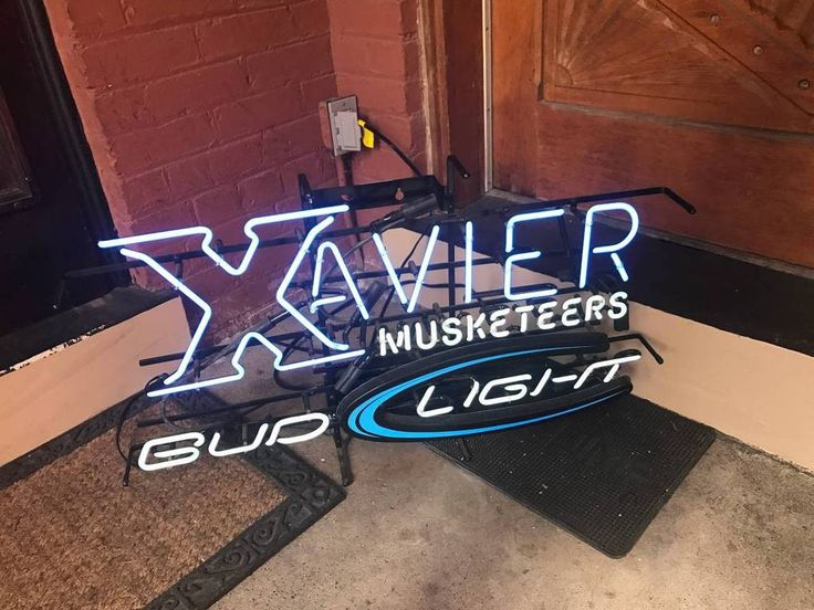 Xavier University Musketeers Bud Light Neon Sign Glass Tube Neon Light
