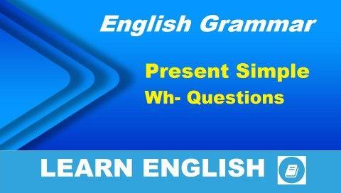 Angol nyelvtan videó lecke. Ebben a részben a kérdésalkotásnak azt a módját nézzük át, amikor kérdőszavakat is használunk. A kérdések egyszerű jelen (Present Simple) igeidőben lesznek.