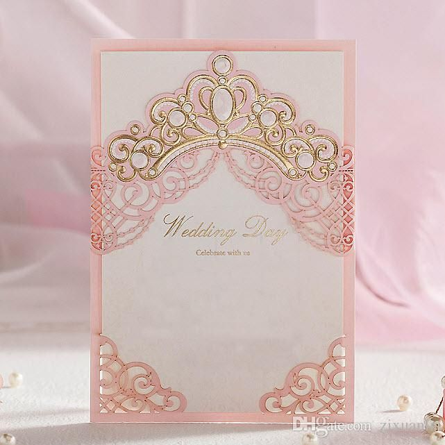 Invitacion De Xv Años Princess Tiara Rosa