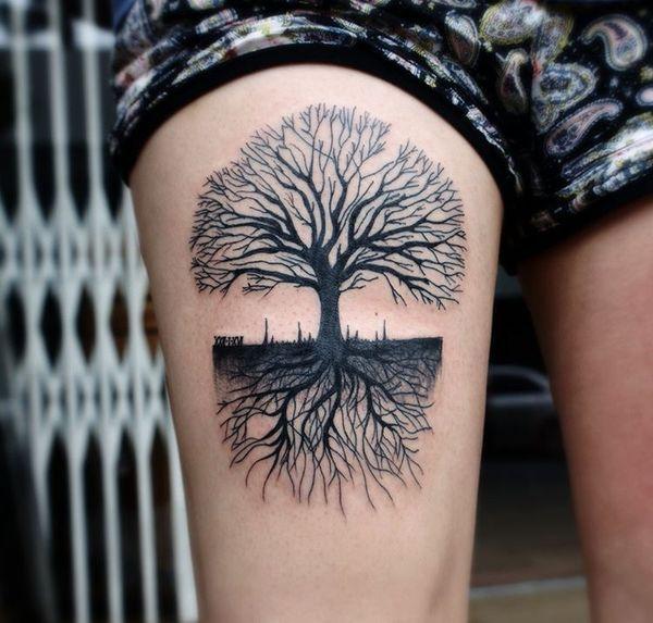 Spreading Roots Tree Tattoo Roots Tattoo Tree Tattoo Meaning Tree Roots Tattoo