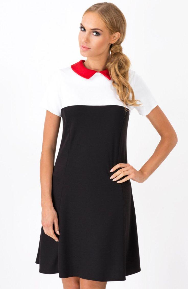 Makadamia M152 sukienka czarna Dziewczęca sukienka dostępna w kilku wzorach