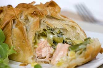 Gino D'Acampo's salmon and mascarpone leek parcels recipe - goodtoknow