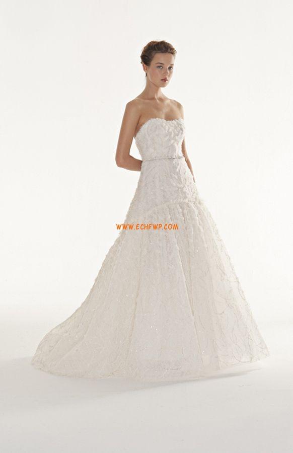 Kolem krku Bez rukávů Přírodní Levné svatební šaty
