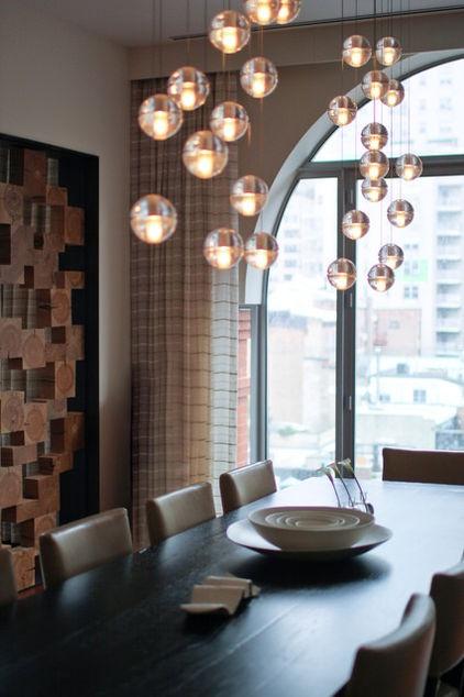MacDougal Manor   Contemporary   Dining Room   New York   Betty Wasserman    Bocci Lighting
