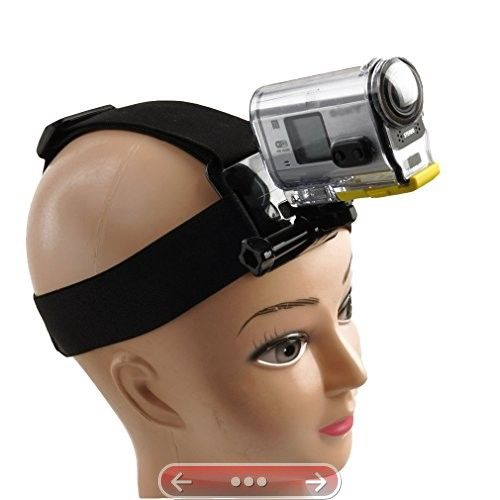 prost  Elastic Mount Extendable Head Belt flexible Strap Band  Adapter for SONY Action Cam HDR-AS200V AS100V AS30V AS20V AZ1 FDR-X1000VR #SonyActionCam
