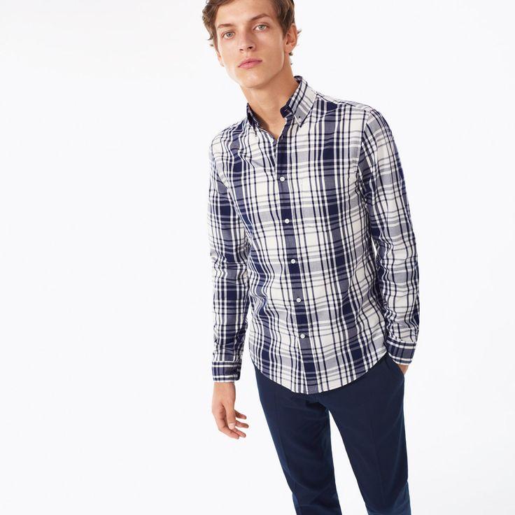 GANT Rugger: White Dreamy Oxford Check Shirt Men's | GANT USA Store