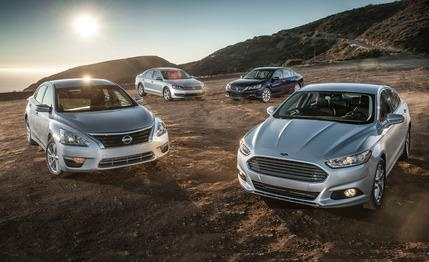 2013 Ford Fusion SE EcoBoost vs. 2013 Honda Accord EX, 2013 Nissan Altima 2.5 SV, 2012 Volkswagen Passat 2.5 SE Masters of the Middle: Four straight-laced sedans that pull the market's strings.