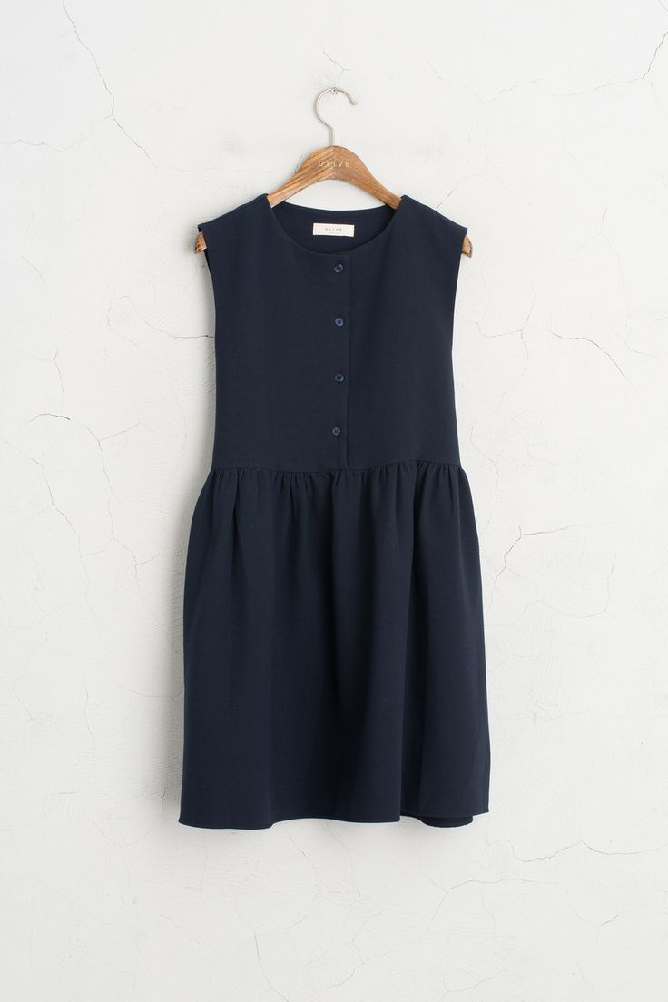 Olive - Button Down Sleeveless Dress, Navy, £59.00 (http://www.oliveclothing.com/p-oliveunique-20160822-022-navy-button-down-sleeveless-dress-navy)