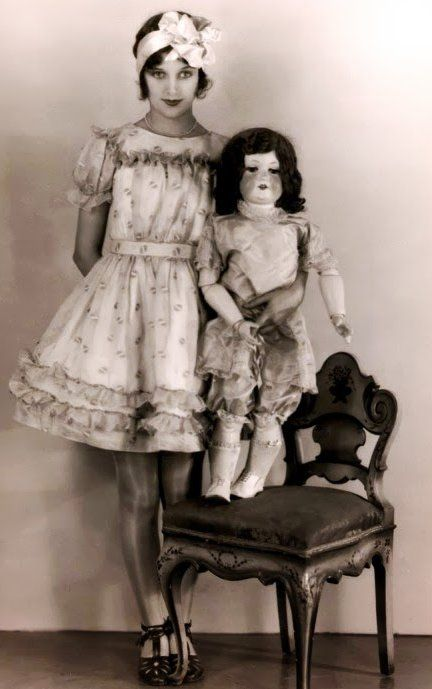 Marceline Day and her Boudoir Doll - 1920's