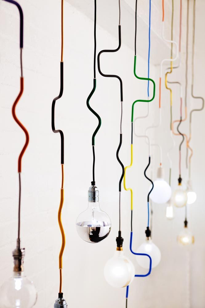 LIGHTING | Cable Jewellery Pendants by Volker Haug