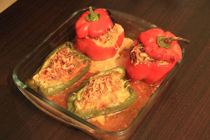 Poivron farci-Paprika isi daging