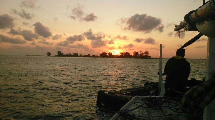 """Sunset from """"Keramba Jaring Apung"""""""