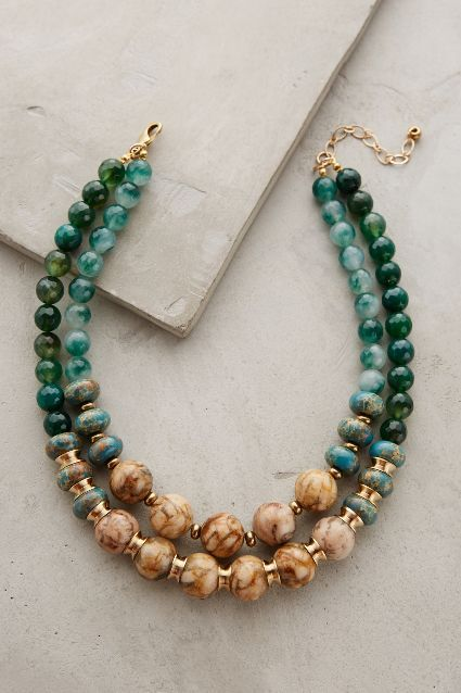 Green Agate Double Strand Necklace – anthropologie.eu