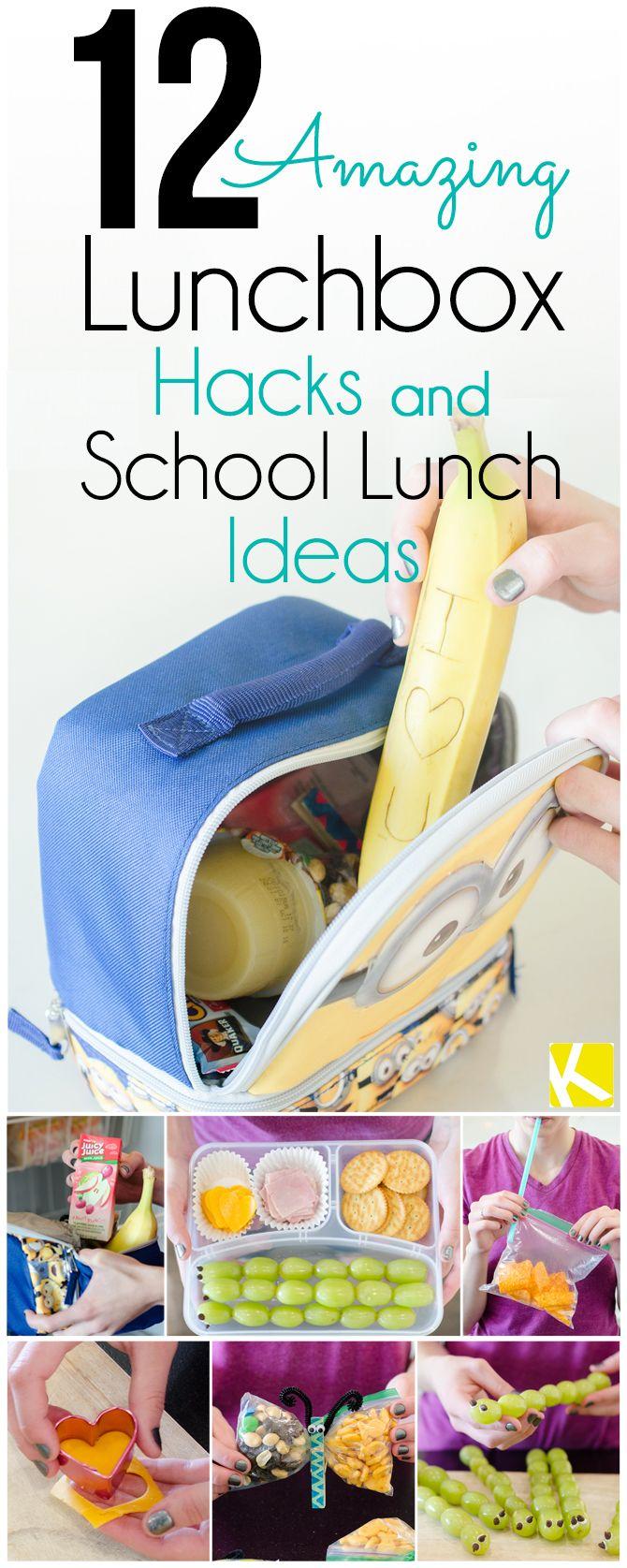 12 Amazing Lunchbox Hacks & School Lunch Ideas