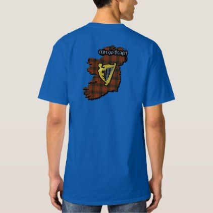 Conroy Irish Family Shield w/Galway Tartan Tall T-Shirt - family gifts love personalize gift ideas diy