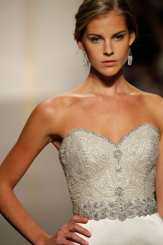 Lazaro 3214 Jewel Encrusted Trumpet Wedding Dress