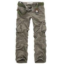 Yeni Stil Yeni Erkek Rahat Açık Pantolon Askeri Ordu Kargo Camo Combat Çalışma Pantolon Pamuklu erkek Askeri Kamuflaj Pantolon(China (Mainland))