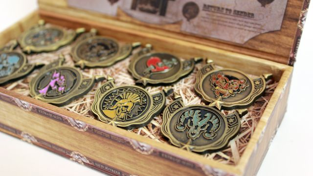 BioShock Infinite Bronze Vigor Pin Set via the Irrational Games Store