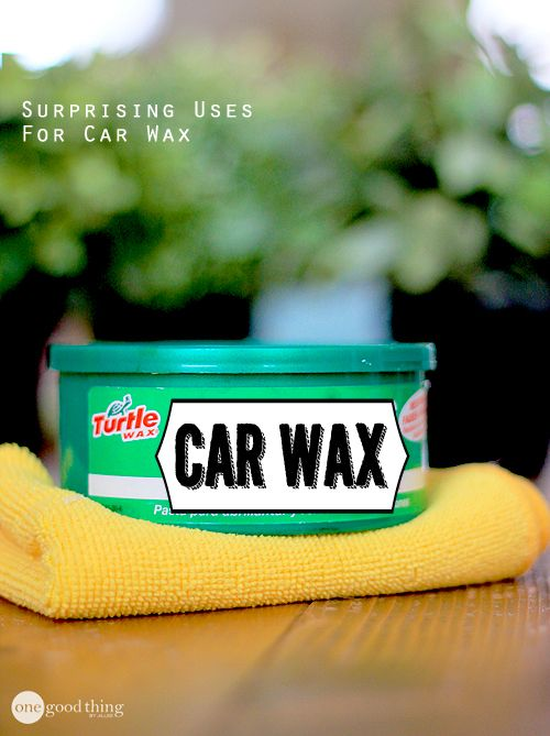 Car wax has some interesting properties that makes it super useful all over your home! You're bound to learn a trick or two :-)