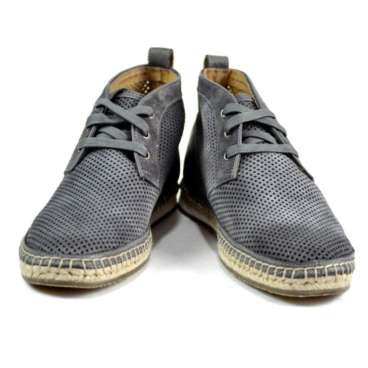 JOHN VARVATOS Mick Espadrille Grey Suede Chukka Boots  |  Have at it! http://www.frieschskys.com/footwear  |  #frieschskys #mensfashion #fashion #mensstyle #style #moda #menswear #dapper #stylish #MadeInItaly #Italy #couture #highfashion #designer #shop