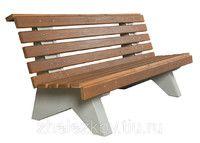 Скамейка бетоная со спинкой СП-01