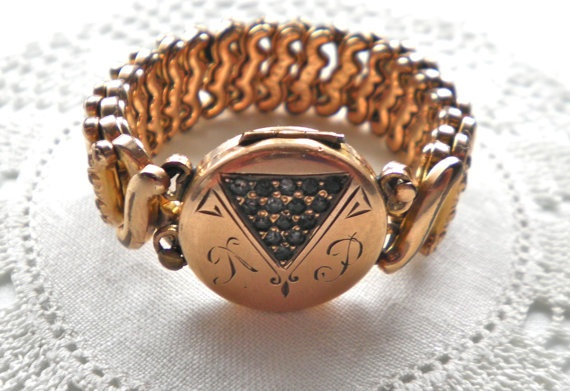 Antique CARMEN Locket Bracelet  c1901 by The D F by JoolsForYou, $45.00