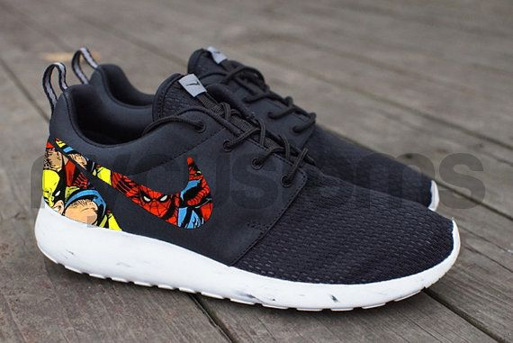 Free Shipping Nike Roshe Run Black White Marble By