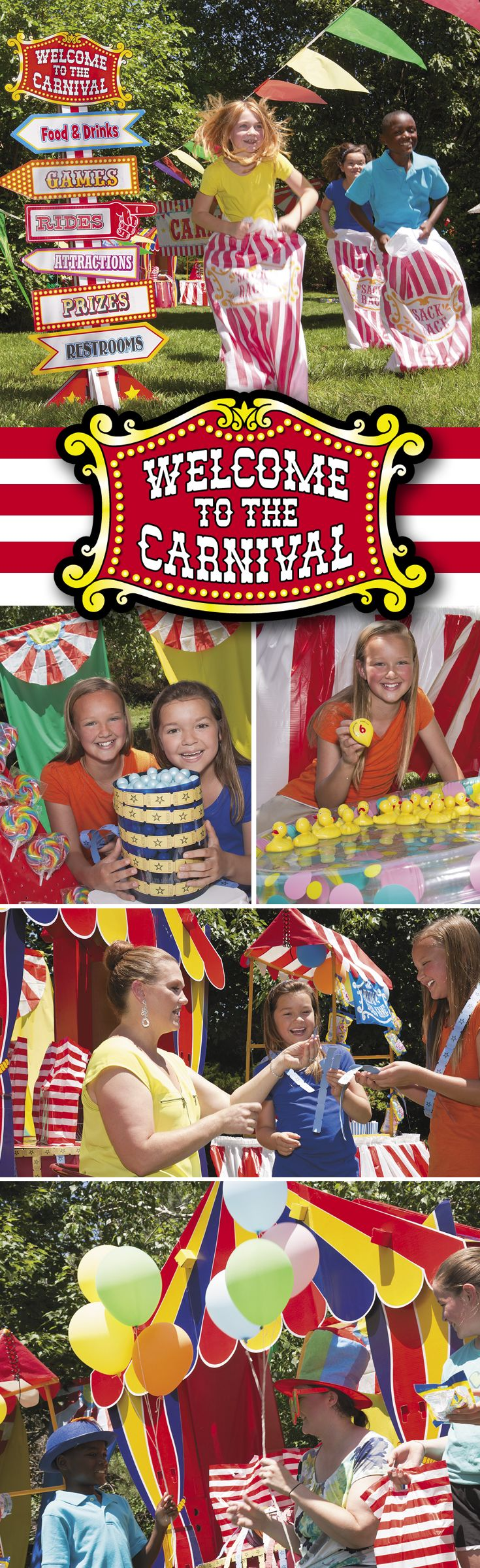 Everyone loves a carnival! From carnival parties to school carnivals, make yours the best yet with supplies from Oriental Trading! #carnival