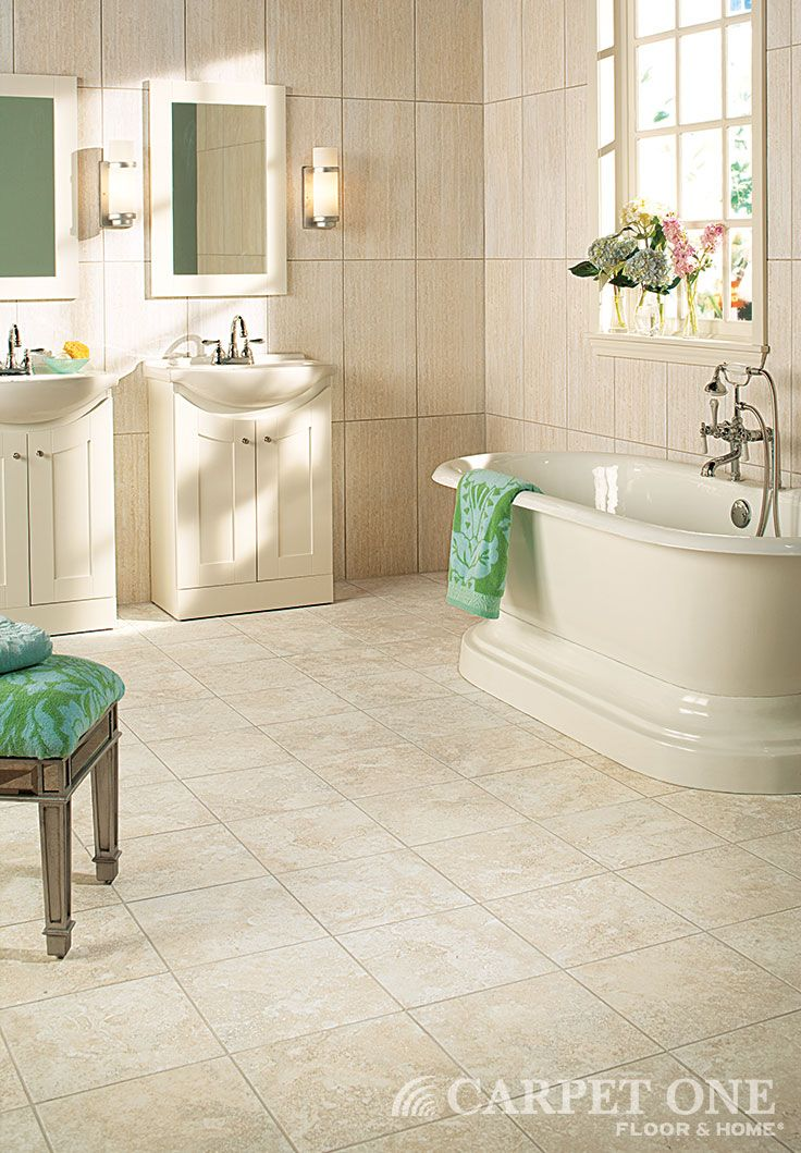 A Neutral Colored Tile Is Great For An Elegant Bathroom
