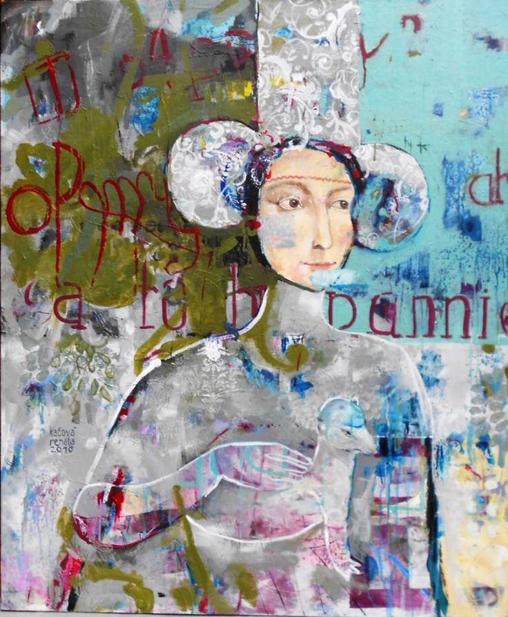 "Saatchi Art Artist RENATA KACOVA; Painting, ""LEONA"" #art"