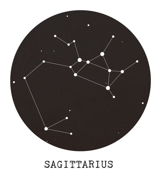 Sagittarius Star Constellation Art Print